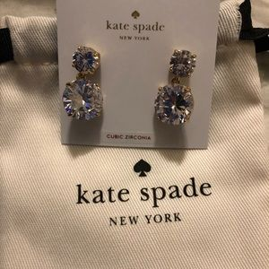 New with tags white kate spade earrings